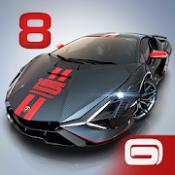 Androidアプリ「アスファルト8 : カーレーシングゲーム リアルスピードでドリフト&ドライブ」のアイコン