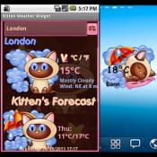 Androidアプリ「子猫の天気ウィジェット」のアイコン