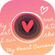 Androidアプリ「ハートのスタンプならMy Heart Camera」のアイコン