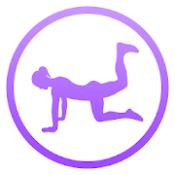 Androidアプリ「臀部デイリーワークアウト - 下半身エクササイズルーチン,     パーソナルトレーナー」のアイコン