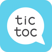 Androidアプリ「Tictoc - Free SMS & Text」のアイコン