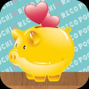 Androidアプリ「かんたん家計簿 ポチレコ 可愛いデザインで楽しく節約&貯金」のアイコン
