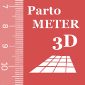 Androidアプリ「Partometer3Dカメラのメジャー3D」のアイコン