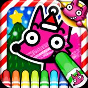 Androidアプリ「わお!クリスマスぬりえ」のアイコン