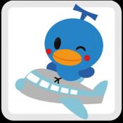 Androidアプリ「格安航空券の比較・予約/空席リアルタイム検索 トラベルjp」のアイコン
