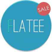 Androidアプリ「Flatee - Icon Pack」のアイコン