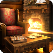 Androidアプリ「My Log Home 3D wallpaper FREE」のアイコン