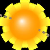 Androidアプリ「太陽の位置とサンライズデモ」のアイコン