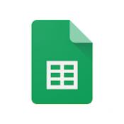Androidアプリ「Google スプレッドシート」のアイコン
