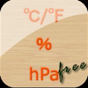 Androidアプリ「温湿気圧計(温度、湿度、気圧計) Free」のアイコン