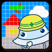 Androidアプリ「ずけいこうじょう 図形感覚を楽しく育む子供向けアプリ」のアイコン