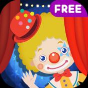 Androidアプリ「こどもサーカス〜どうぶつたちといないいないばあ!Free」のアイコン