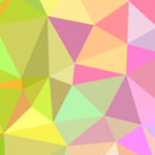 Androidアプリ「PolyGen - Create Polygon Art」のアイコン