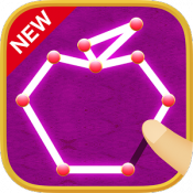 Androidアプリ「一筆書きゲーム!無料パズルで脳トレしよう!いっぴつがきです!」のアイコン