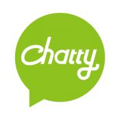 Androidアプリ「英語学習、英会話チャットが毎日無料   Chatty」のアイコン