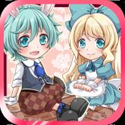 Androidアプリ「不思議の国の白ウサギ 【かわいい育成ゲーム】」のアイコン
