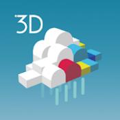Androidアプリ「3D雨雲ウォッチ〜次世代レーダでゲリラ豪雨・台風・天気を確認」のアイコン