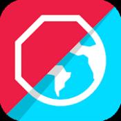 Androidアプリ「Adblockブラウザー:広告のブロックと高速ブラウジング」のアイコン