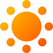 Androidアプリ「日の出・日の入簡易計算機」のアイコン