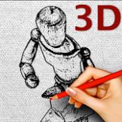 Androidアプリ「デッサン人形ポーズカタログ「3D Poses」」のアイコン