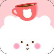 Androidアプリ「あわくまカフェ - 無料のかわいいカフェ運営の放置ゲーム」のアイコン