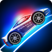 Androidアプリ「Police car racing for kids」のアイコン
