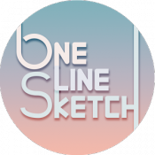 Androidアプリ「一筆スケッチ!!! ( One Line Sketch )」のアイコン