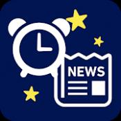 Androidアプリ「目覚ましニュース - 音声と好きな曲で起きれる目覚まし時計」のアイコン