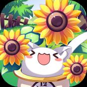 Androidアプリ「ねこばち!~ねこばちに花を咲かせよう~」のアイコン