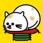 Androidアプリ「ねこくずし - 「ねこ」×「座布団」究極の暇つぶしゲーム」のアイコン