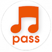 Androidアプリ「うたパス-音楽プレーヤー付聴き放題アプリ」のアイコン