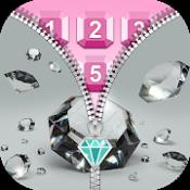 Androidアプリ「ダイヤモンドロック画面 ジッパー女の子用のアプリ」のアイコン