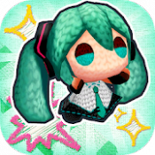Androidアプリ「初音ミク あみぐるジャンプ」のアイコン