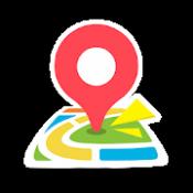 Androidアプリ「ここ地図 - 自転車にも対応!使いやすい地図アプリ」のアイコン