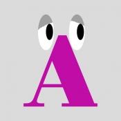 iPhone、iPadアプリ「ウニウニ ABC - 五感を刺激する仕掛けがたっぷりの絵本」のアイコン