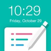 iPhone、iPadアプリ「待ち受けロック画面メモ」のアイコン