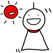 iPhone、iPadアプリ「晴れろさん天気予報 〜ラッキーキャラが1000個も!? 気象予報を無視して晴れろ祈願!!!〜」のアイコン