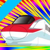 iPhone、iPadアプリ「でんしゃビュンビュン【電車・新幹線もぐらたたき】」のアイコン