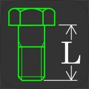 iPhone、iPadアプリ「ねじ長さ計算 - ボルト、ナットの組み合わせから、ネジ長さを算出」のアイコン