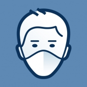 iPhone、iPadアプリ「AirVisual 大気汚染|空気の品質モニタリングと予報」のアイコン