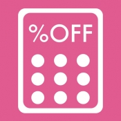 iPhone、iPadアプリ「お買い物専用-かんたん割引計算電卓」のアイコン
