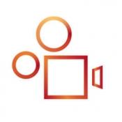 iPhone、iPadアプリ「Rhythmo - 曲に乗ったかっこいいビデオブログを始めよう!」のアイコン