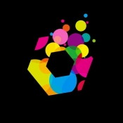 iPhone、iPadアプリ「r.color/色のプロ向け色彩感覚ゲーム」のアイコン