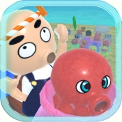 iPhone、iPadアプリ「タコつぼ漁師さん太郎」のアイコン