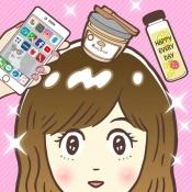 """iPhone、iPadアプリ「キラキラ女子ツクール-誰でも作れる""""キラキラ女子""""」のアイコン"""