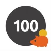 iPhone、iPadアプリ「100マス貯金 ーパズル感覚で楽しめる、貯金のお助けツール」のアイコン