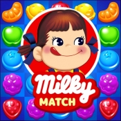 iPhone、iPadアプリ「ミルキーマッチ:ペコちゃんパズルゲーム」のアイコン