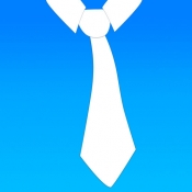 iPhone、iPadアプリ「vTie - ネクタイ - tie a tie guide with style for business, interview, wedding, party」のアイコン