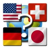 iPhone、iPadアプリ「国旗クイズ」のアイコン