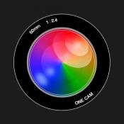 iPhone、iPadアプリ「OneCam 高画質マナーカメラ 〜上スワイプで写真すぐ確認」のアイコン